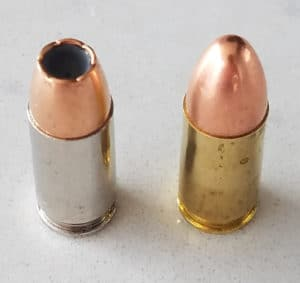 9mm hollow points vs full metal jacket (FMJ)
