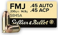 Sellier and Bellot 45 ACP Ammo