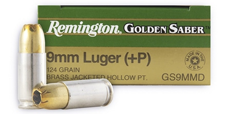 Remington Golden Saber 124 gr +P