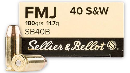 Sellier & Bellot 40 S&W 180 Grain FMJ