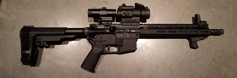 AR Pistol With Aimpoint PRO and Vortex 3X Magnifier