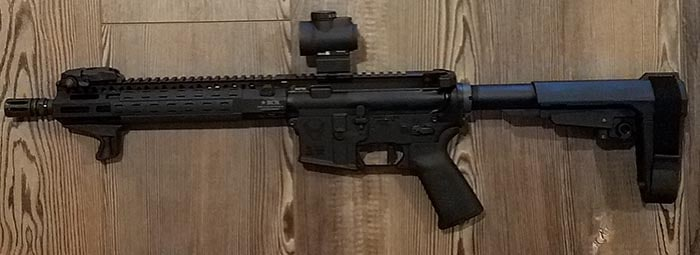 AR-15 Pistol With Trijicon MRO, the Best AR-15 Red Dot Sight