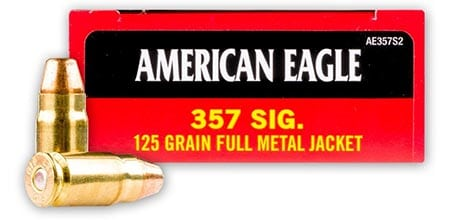 Federal American Eagle 357 SIG 125 Grain FMJ