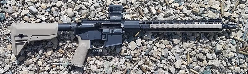 Holosun HS403C Mounted on AR-15