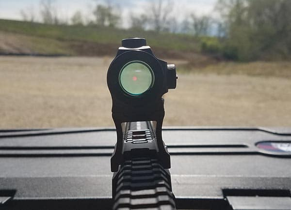 Holosun HS403C Sight Picture