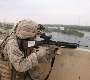 Soldier Using Rifle with ACOG