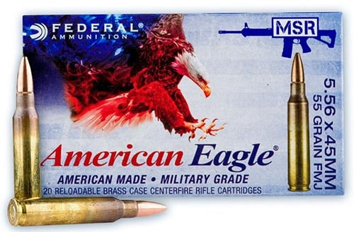 Federal XM193 5.56 FMJBT- Best 5.56 Ammo for Practice