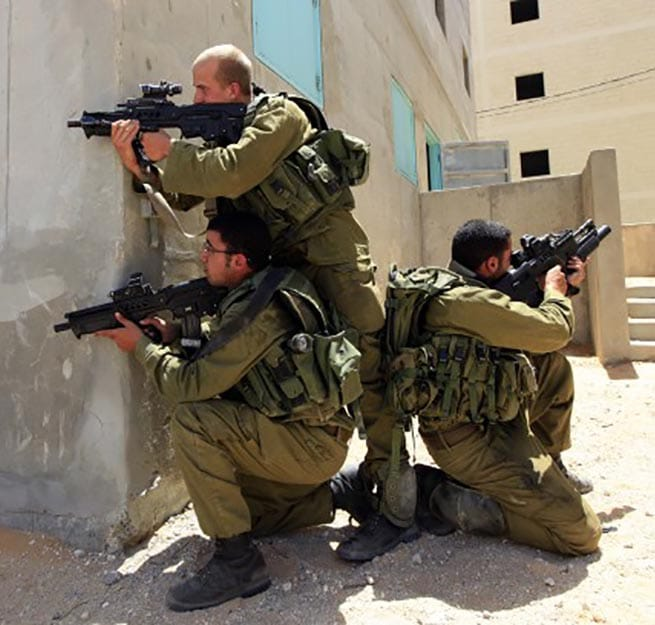 Israeli Soldier Using Tavor Bullpup Rifle