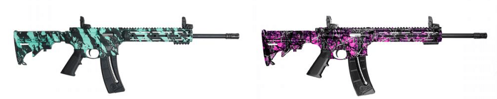 M&P 10-22 Robin Egg Blue and Muddy Girl Pink
