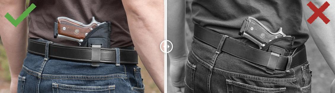 Bigfoot Gun Belt vs Normal Belt