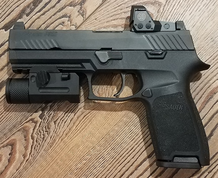 Ozark Armament Pistol Light on SIG Sauer P320 RX