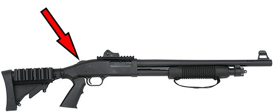 Mosberg 500 Tactical SPX Safety Location