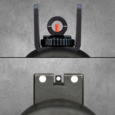 Mossberg 590A1 Sight Options - Ghostring & Fiber Optic or 3 Dot Sights