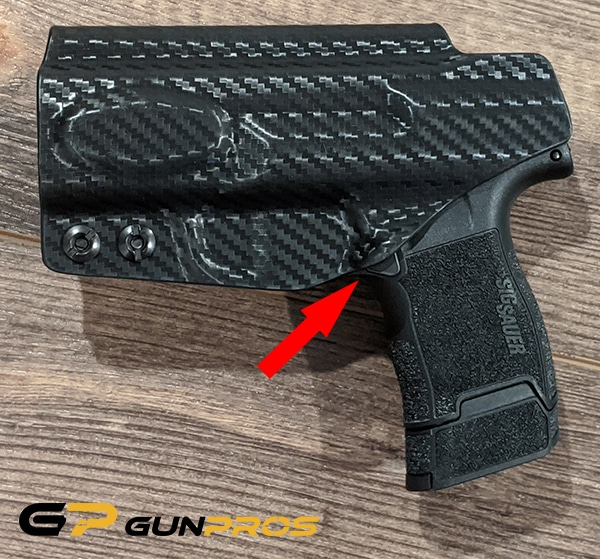 Concealment Express Tuckable IWB for SIG P365 Magazine Release Button Protection