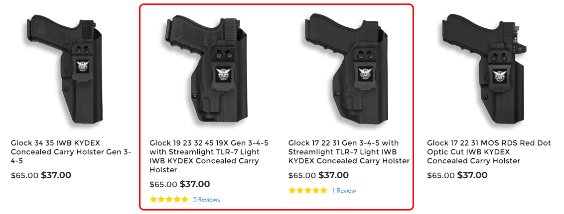 We the People Holsters Glocks with Lights Website